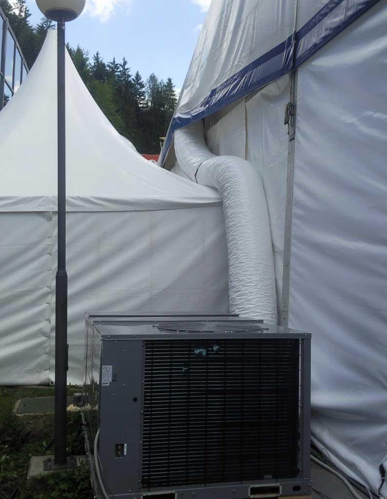 najem klime kanali šotor